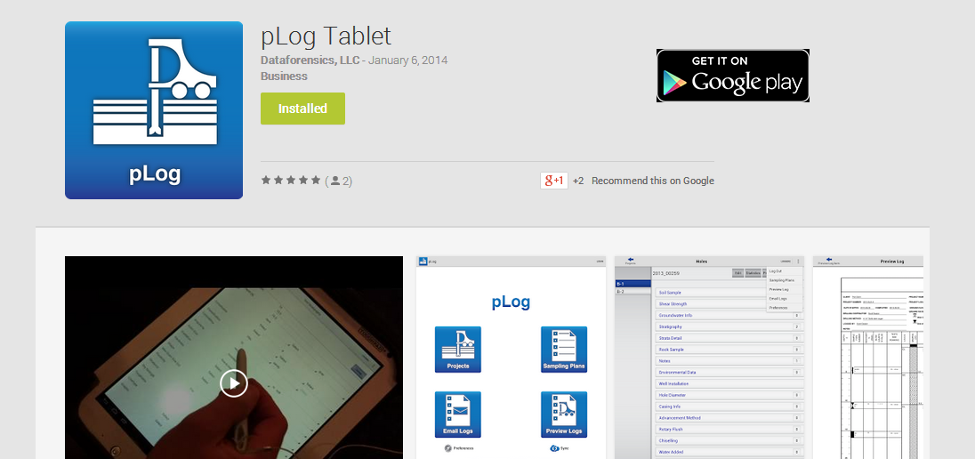 pLog Tablet   Android Apps on Google Play